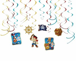 12 PC JAKE AND THE NEVER LAND PIRATES SWIRL DECORATIONS Birthday Party S... - $7.69