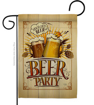 Beer Party - Impressions Decorative Garden Flag G167061-BO - $19.97