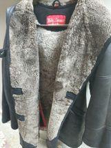Walter Davoucci Women  Lambskin Leather Shearling Jacket Sz Medium Coat image 5