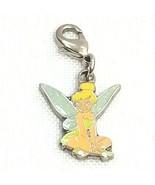 Disney Tinkerbell Double Sided Enamel Charm Clip Silver Sitting Pixie Fairy - $12.16