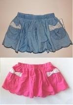 Toughskins Infant Toddler Girls Skirt/Skort Pink Lace Pocket Trim  Sizes... - $7.99