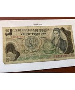 Colombia 20 pesos oro circulated banknote 1979 - $2.00