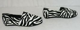 Izzy Mico Slip On Flat Rubber Sole Zebra Print Size Seven image 3