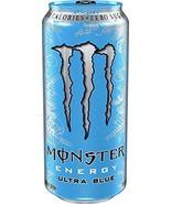 Monster Energy Ultra Zero Sugar Energy Drinks 16 ounce cans (Ultra Blue,... - $24.74