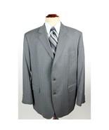 Brooks Brothers Men's size 45R Gray Wool Pinstriped Blazer Sport Coat Ja... - $38.88