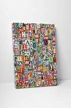 "Newspaper Clippings Abstract Art Gallery Wrapped Canvas Print 30""x20"" or... - $42.52+"