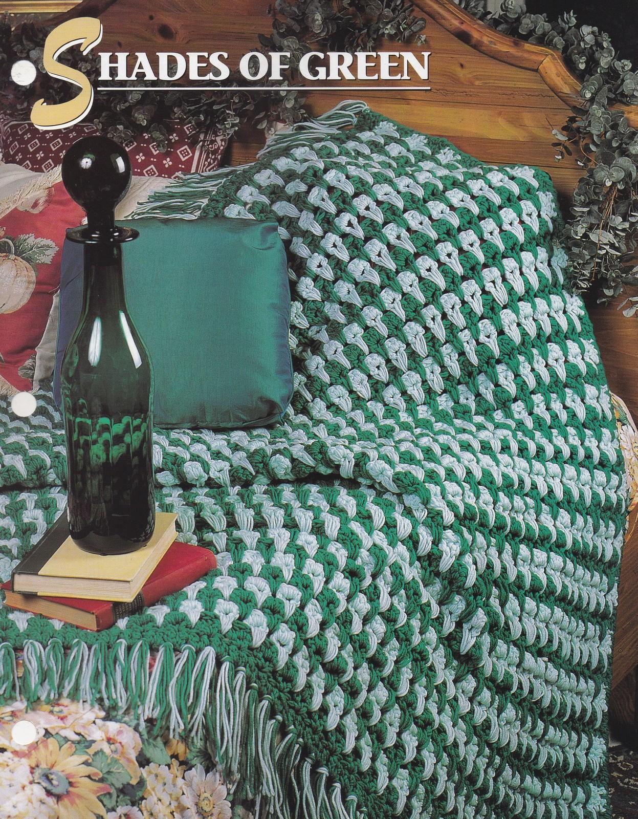 Shades of Green, Annie's Attic Crochet Quilt & Afghan Pattern Leaflet QAC310-04