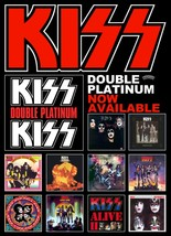 KISS Band Double Platinum Promo Poster Stand-Up Display - Album Rock Mus... - $16.99