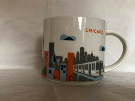 Starbucks Chicago mug coffee cup You Are Here collection 14 oz 2015 - $11.87