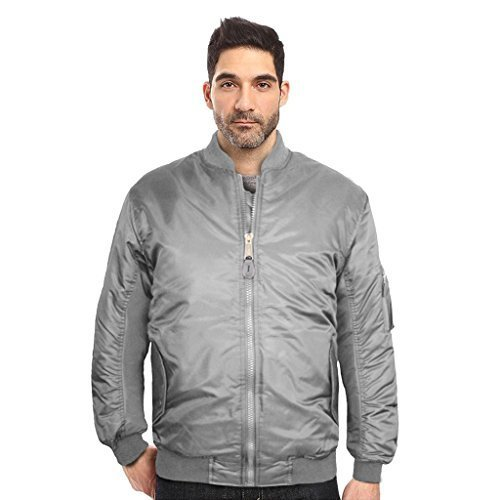 Maximos USA Men's Padded Water Resistant Reversible Flight Bomber Jacket (XS, Gr