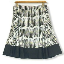 Jete Black Plus Size 3X Flirty Circle Skirt Pockets Geometric Print Back... - $28.01