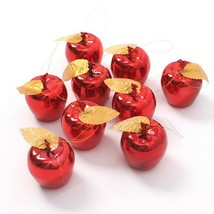 12pcs Red Golden Apples Ball Christmas Tree Hanging Decor Xmas Party Orn... - £6.47 GBP