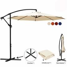 JEAREY Patio Umbrella 10 Ft Offset Cantilever Umbrellas Outdoor Market H... - $89.97