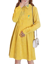 Maternity Dress Solid Color Long Sleeve Turn Down Collar Fashion Shirt D... - $32.99
