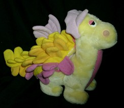 Vintage 1987 hasbro be mores dinosaur dino stuffed animal toy pink yellow - $45.45