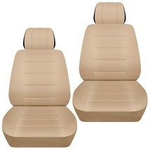 Front set car seat covers fits Chevy Spark  2013-2020  solid sand - $65.09+