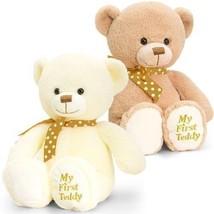 Keel Toys 20cm Supersoft My First Teddy 2 Asstd (brown) - $8.83