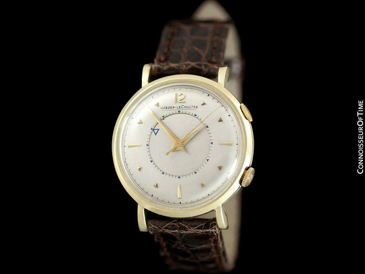 Jaeger-Lecoultre Memovox Hombre Alarma Reveil Watch - Solid 14K Oro y Ss