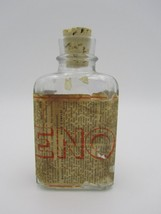Vintage 1934 Eno Effervescent Salt Clear Glass Bottle Partial Label IL G... - $4.90