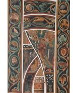 CHURCH PAINTINGS 13th C St. Julien de Brioude - 1888 COLOR Litho Print - $21.60