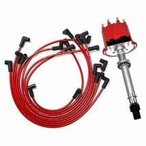 A-Team Performance EFI TBI Distributor and Spark Plug Wires Compatible With SBC