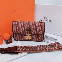 NEW AUTH Christian Dior Red Monogram Messenger Crossbody Bag  image 2