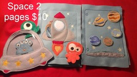 2 page Space Quiet Buzy Book Pages - $10.00