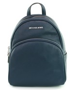 Michael Kors Abbey Backpack Bag Navy Dark Blue Pebbled Leather Medium RR... - $389.07