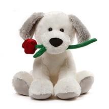 """GUND Demarco Valentines Day Stuffed Animal Puppy Dog Plush, White, 10"""" - $25.62"""