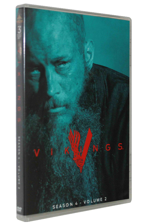 VIKINGS The Complete Fourth Season 4 Volume 1&2 DVD Box Set 6 Disc Free Shipping
