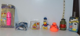 Mixed Lot Beach Capsule, Donald Duck Toy, Rubber Ducky,Sea World toy, li... - $9.48