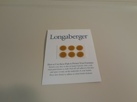 Genuine LONGABERGER 36 BASKET DOTS TO PROTECT FURNITURE, FELT PADS - $17.81
