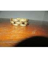 Vtg Marked MONET Textured Gold Tone Chunky Panel Clasp Bracelet W/Safety... - $32.95