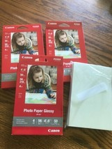 "New - Lot Of Canon GP-601 Glossy Photo Paper 4x6"" 200 Sheets - $7.59"
