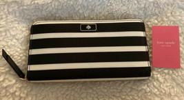 Kate Spade New York 'Dawn' Black-Multi Sailing Stripe Lg Continental Wallet, NWT - $72.57