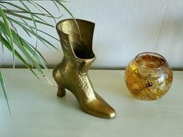 Vintage Brass Boot/Shoe Shaped Planter/Vase - $22.00