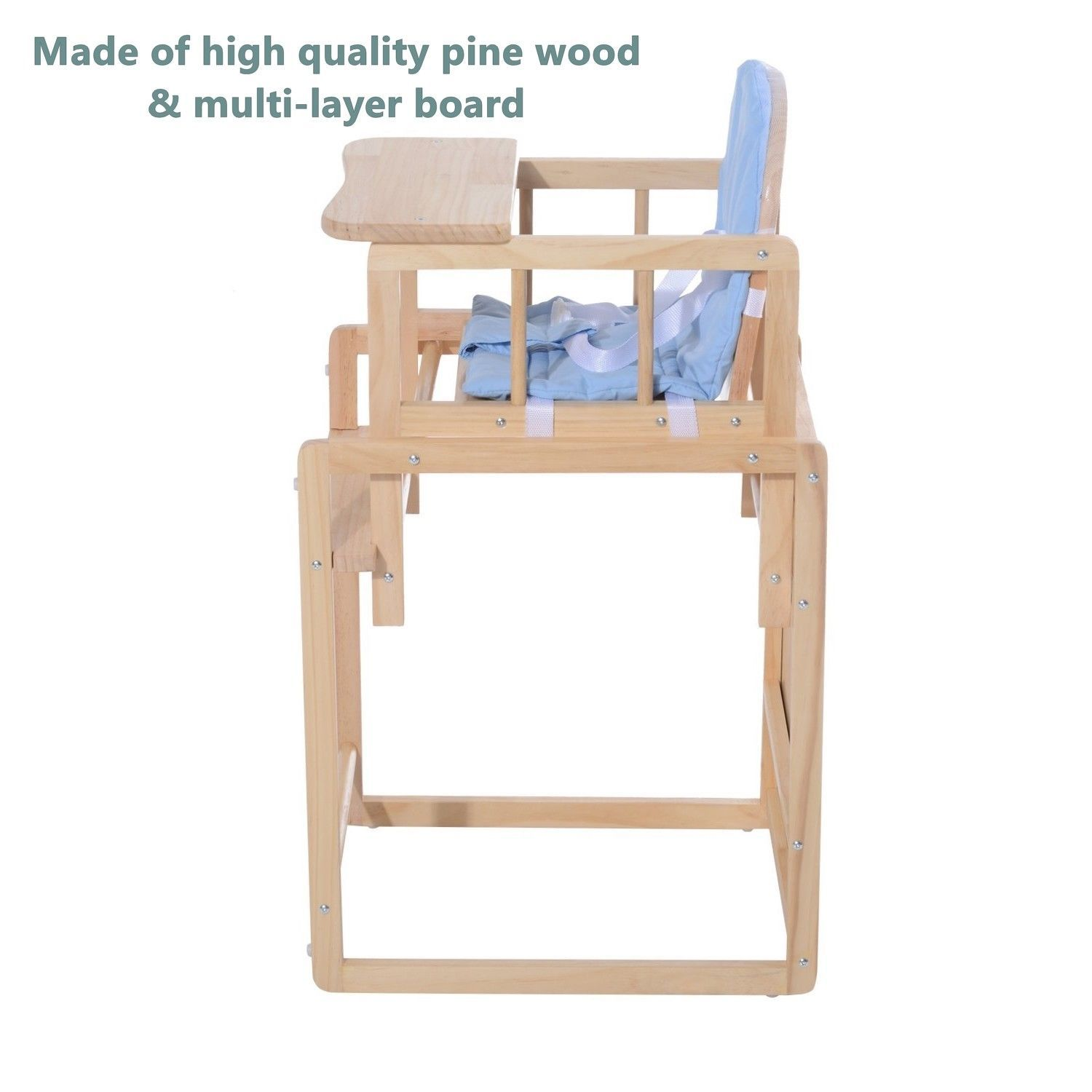 Superb 2 In 1 Baby Wooden Feeding High Chair And 50 Similar Items Andrewgaddart Wooden Chair Designs For Living Room Andrewgaddartcom
