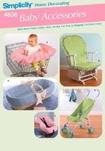 Simplicity 4636 Baby Accessories -Baby Basket Insert, Glider Chair, Stroller, Ca - $6.92
