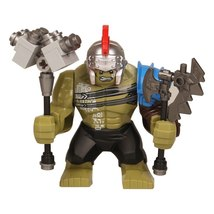 Single Sale Gladiator Hulk with Hammer Thor Ragnarok Lego Minifigures Block - $3.99