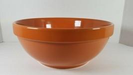 Tastefully Simple Pasta Serving Bowl 3 Qt Stoneware Burnt Orange Color - £12.02 GBP