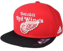 ADIDAS NHL Detroit Red Wings Dassler Brim Snapback Adjustable Adult Cap - $44.99
