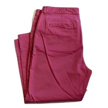 LL Bean Chino Favorite Fit Pink Stretch Capri Pants Womens Size 14 Petit... - $17.99