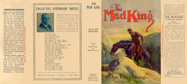 Edgar Rice Burroughs THE MAD KING facsimile dust jacket - 1st Grosset Ed... - $21.56