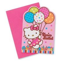 Hello Kitty Balloon Dreams Save The Date Invitations Birthday Party 8 Pe... - $5.10