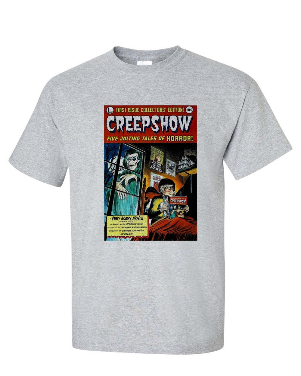 R movie film from 80 s stephen king george romero horror comics graphic tee for sale onlie store