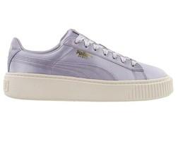 Puma Basket Platform Satin Thistle Gold Whisper White 865719 02 Womens Sneakers - £38.84 GBP