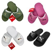 Nwt Puma Authentic Cool Cat Sport Women's Black Pink Slip On Slides Sandals - $25.99