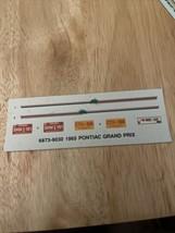 AMT 6873 1965 Pontiac Grand Prix PRESTIGE 2n1 1/25 Model Kit Decal Sheet... - $2.97