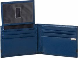 Calvin Klein Ck Men's Leather Bifold Id Wallet Key Chain Set Blue 79485 image 4