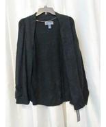 NWT Karen Scott 2 Pocket Open Cardigan Luxury Soft Black S L XL Org $49.50 - $3.99